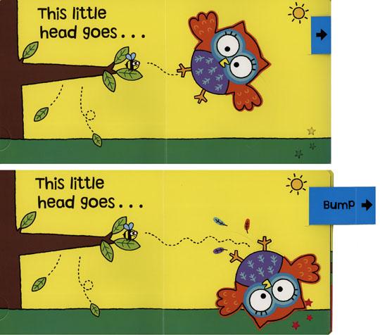 『小動物的伸展操 』BUMP! LITTLE OWL /幼兒操作書  (知名作家:Jo Lodge的操作書)