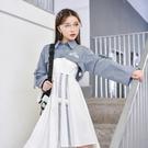 原創森女部落氣質吊帶裙兩件套裙子別致設計感小眾洋裝機能風春 設計師