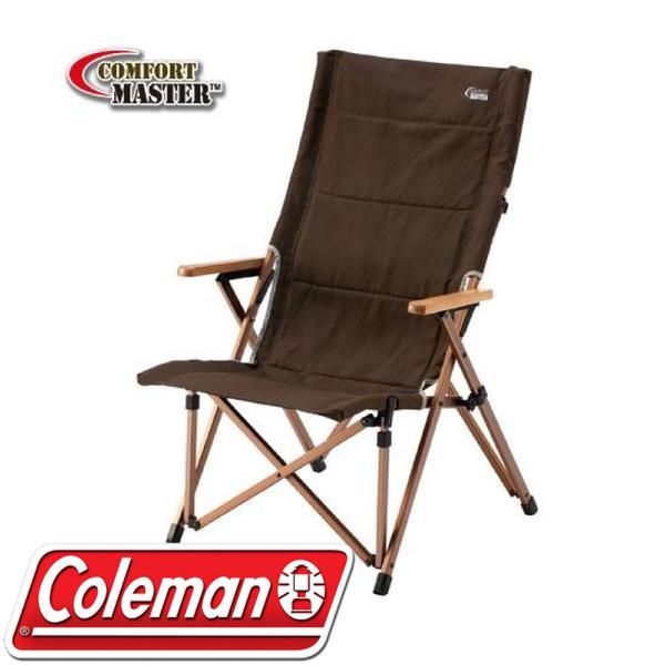 【Coleman 美國 舒適達人帆布高背椅】CM-0502J/摺疊椅/露營椅/收納椅★滿額送