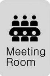 迪多deflect-o  612810S   Meeting Room 英文會議室-鋁質方形貼牌 / 個