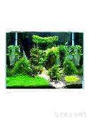 烏龜缸超白魚缸玻璃桌面客廳生態小型斗魚金魚烏龜缸造景懶人養魚水草缸 艾家 LX