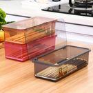 家用餐具收納盒筷子瀝水架廚房廚具塑料帶蓋防塵隔水筒叉子勺子籠【三色可選送卡包】