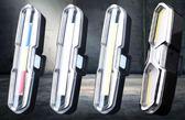 山地自行車尾燈USB充電LED警示燈夜間騎行裝備單車死飛配件防水 DF 星河
