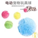 啃咬毛絨玩具球 貓咪狗狗寵物電動玩具【雲...