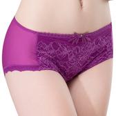 思薇爾-仲夏之夢系列M-XL蕾絲中低腰平口內褲(蜀葵紫)