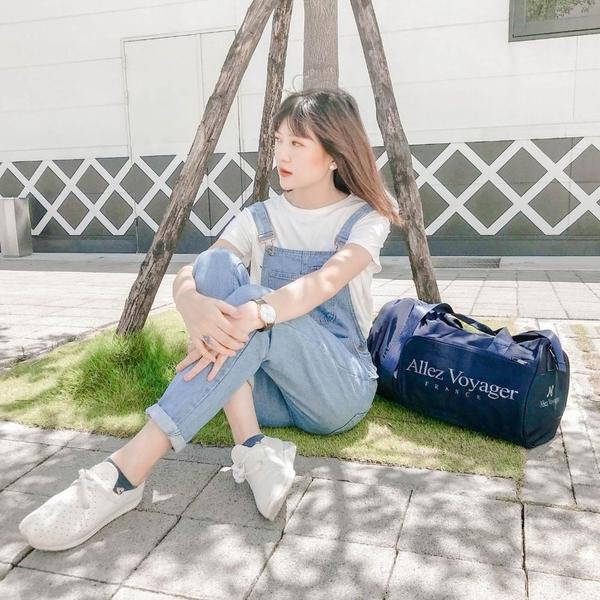 旅行袋 運動包 行李袋 收納袋 側背包 斜背包 圓筒大容量 奧莉薇閣 旅行包 海軍藍