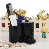 復古雕花筆刷桶刷具桶化妝收納盒公主蝴蝶薔薇古典華麗雕花【SA0002 】Loxin