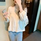 棉麻襯衫女設計感小眾蕾絲別致上衣2021春裝新款高端襯衣洋氣小衫 設計師