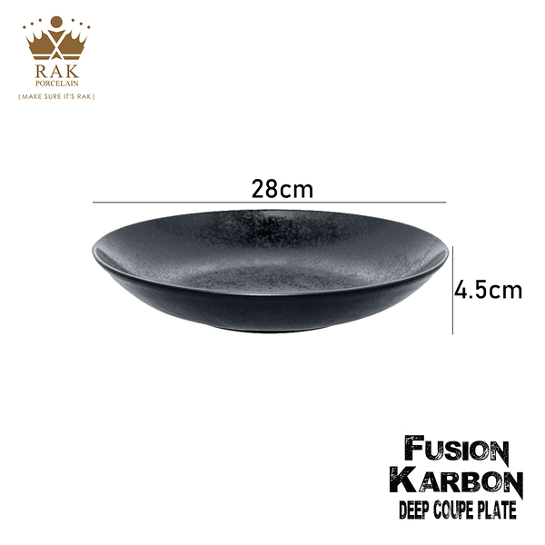 RAK Porcelain FUSION Karbon系列 星空黑圓深盤 28cm