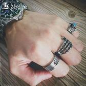 復古航海帆船戒指男士個性單身食指環鈦鋼情侶尾戒潮飾品