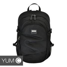 【風雅小舖】【美國Y.U.M.C. Greenwich格林系列Active Backpack 15.6吋筆電後背包 黑色】