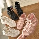 女童涼鞋 女童涼鞋夏季新款時尚防滑羅馬涼鞋正韓兒童公主鞋女孩沙灘鞋-Ballet朵朵
