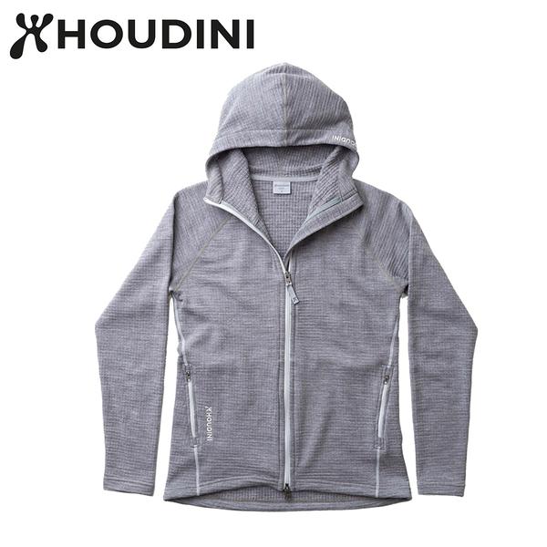 瑞典【Houdini】W`s Wooler Houdi 美麗諾女款羊毛外套 學院灰 125834