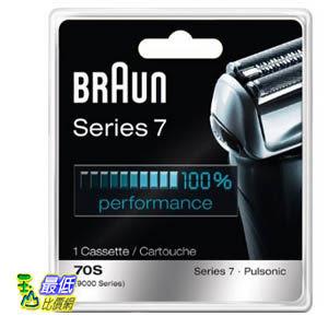 [美國日本直購] Braun 德國百靈Series 7 Combi 70S複合式刀頭刀網匣(銀) Cassette Replacement Pack