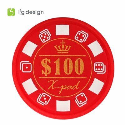 Xpad系列(S)100迷你型籌碼造型擦拭布手機吊飾 可用於平板手機螢幕 i3g design