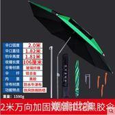 驢夫釣魚傘1.8/2/2.2/2.4/2.6米萬向折疊防紫外線加厚加固黑銀膠MBS『潮流世家』