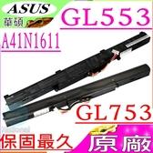 ASUS 電池(原廠)-華碩 A41N1611,GL553電池,GL753電池,GL753VD電池,GL753VE電池,0B110-00470000
