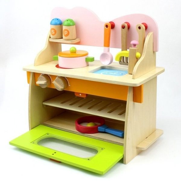兒童仿真木製廚房組 扮家家酒 玩具 迷你廚房 迷你廚房  生日 交換 禮物 【PT104】
