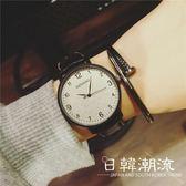 手錶 手表女學生韓版簡約黑白休閑超薄大氣中性運動考試專用潮男石英表