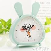 兒童專用可愛卡通小鬧鐘學生用創意鐘表靜音床頭簡約電子數字時鐘  茱莉亞