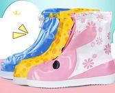 防雨鞋套 兒童腳套防雪雨天防雨鞋套男女童學生防水鞋套防滑加厚耐磨【快速出貨免運八折】