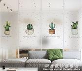 北歐玻璃貼紙 多肉植物窗戶貼膜窗花貼紙玻璃貼 月白風清 igo科炫數位