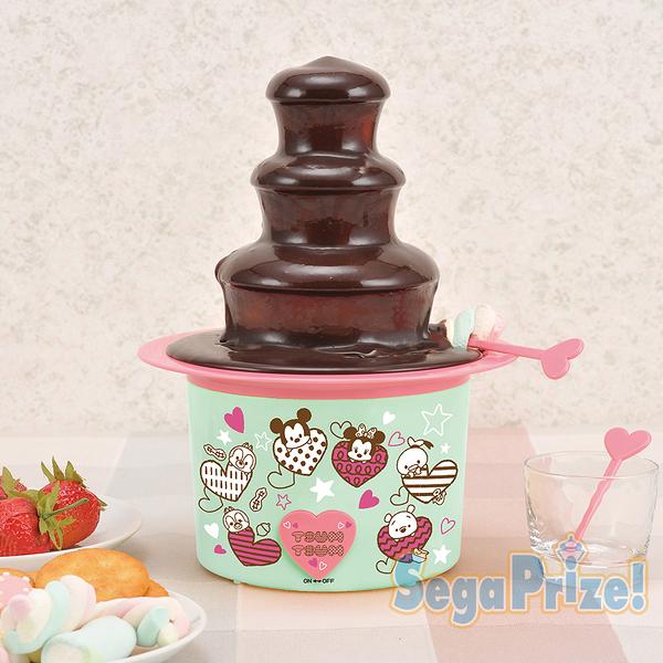 日本SEGA PLAZA 景品 TSUM TSUM 迷你三層巧克力噴泉機_SE31389