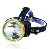 LED頭燈強光充電感應礦燈釣魚燈頭戴式防水超亮手電筒多功能夜釣