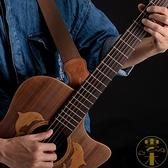 吉他背帶民謠男女吉他電吉他古典皮質背帶繩~雲木雜貨~
