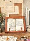 熱賣復古置物架 木質成人多功能閱讀架折疊讀書架學生桌上看書神器可伸縮書夾書靠【618 狂歡】