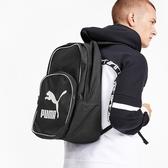 PUMA ORLIGINALS 黑色 大LOGO 基本款 後背包 (布魯克林) 07665201