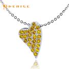 925純銀「甜蜜的愛」黃晶鑽項墜 / 銀飾珠寶情人禮物 / 贈送白鋼項鍊