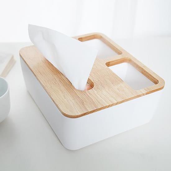 ♚MY COLOR♚橡木蓋置物面紙盒 抽取 桌面 抽紙 衛生紙 餐巾 紙巾 雜物 小物 收納 分類【A11-1】