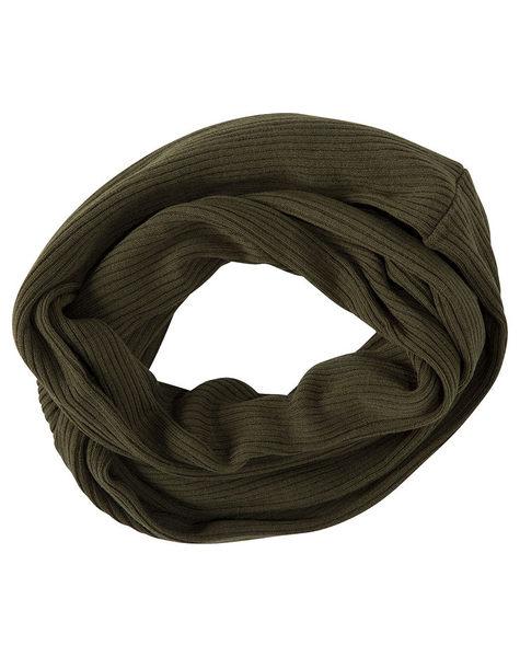 Hurley 女生 經典保暖圍巾 - 軍綠
