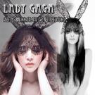超大蕾絲兔耳朵髮箍面紗 - lady g...