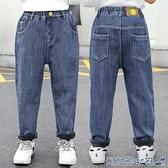 兒童牛仔褲 男童加絨牛仔褲2020冬裝新款兒童褲子中大童一體絨男孩休閑褲外穿 快速出貨