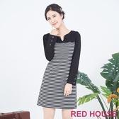 【RED HOUSE 蕾赫斯】條紋休閒洋裝(共兩色)