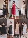 蛋糕裙 女裝2021年新款韓版法式v領設計感吊帶蛋糕裙波點碎花裙連身裙子 寶貝寶貝計畫 上新