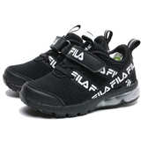 FILA 休閒鞋 黑 花紋 黏帶 氣墊鞋 童鞋 大童 中童 (布魯克林) 2J822U011