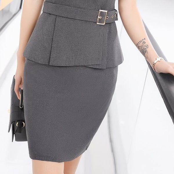 [7236-PF]中尺碼*時尚氣質純色職業OL包臀窄裙~美之札