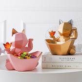 北歐幾何招財貓創意裝飾擺件客廳玄關裝飾鞋櫃子鑰匙收納盒開業禮物