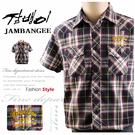 【大盤大】jambangee jeans M號 韓國專櫃 男 短袖 襯衫 100號 韓風 進口 格子 時尚 禮物