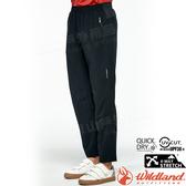 Wildland 荒野 0A81328-54黑色 男麻花紗透氣休閒長褲 抗UV/吸濕排汗/輕薄透氣/居家休閒(大碼)*