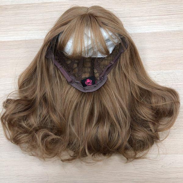 魔髮樂 全頂假髮 梨花頭即肩短捲髮 金色假髮 C8161