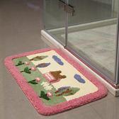 地墊 絨浴室臥室進門門口門廳浴室 JD78 【123休閒館】