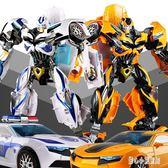 變形金剛 合金變形玩具金剛5大黃蜂汽車機器人警車模型正版兒童男孩 CP2583【甜心小妮童裝】