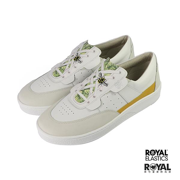 Royal Pastor 白色 皮質 套入 運動休閒鞋 男款 NO.B0892【新竹皇家 01893-043】