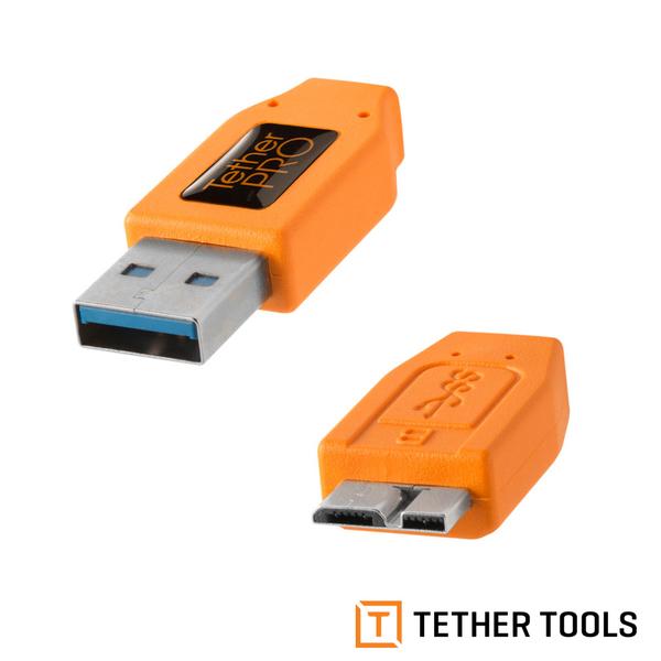 TETHER TOOLS CU5454 USB3.0 轉 USB3.0 Micro-B 拍攝線 傳輸線 4.6M 延長線 公司貨