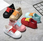 小美和小寶兒童帆布鞋男女童鞋子韓版百搭寶寶白板鞋秋季 盯目家