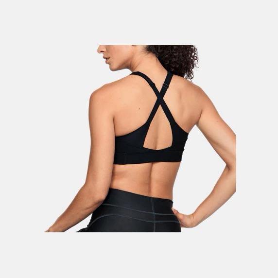 UNDER ARMOUR UA Vanish 女裝 運動內衣 中強度 胸墊 慢跑 訓練 排汗 透氣 黑【運動世界】1311811-001
